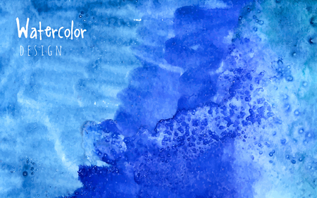 realization: Watercolor design element blue Water for the realization of your best ideas.