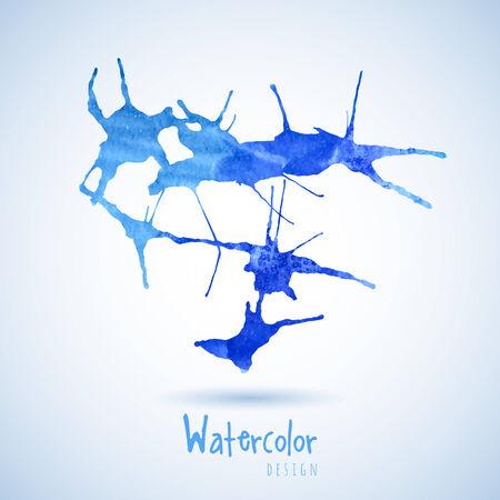 realización: Acuarela elemento de dise�o de agua azul para la realizaci�n de sus mejores ideas.