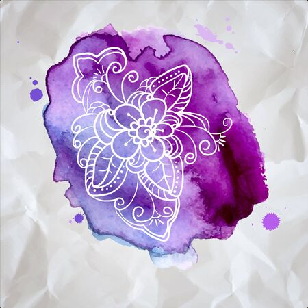 realization: Watercolor design element for the realization of your best ideas.