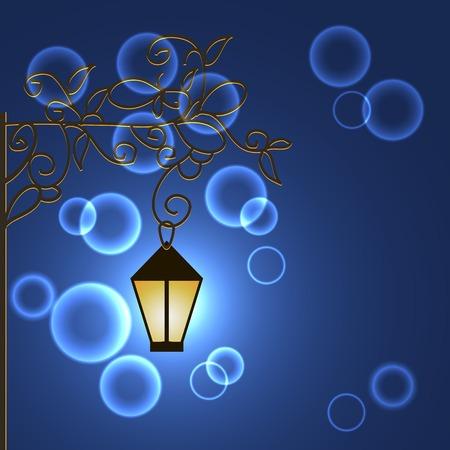 Illustration frnar with ornament night. Vector illustration Vector