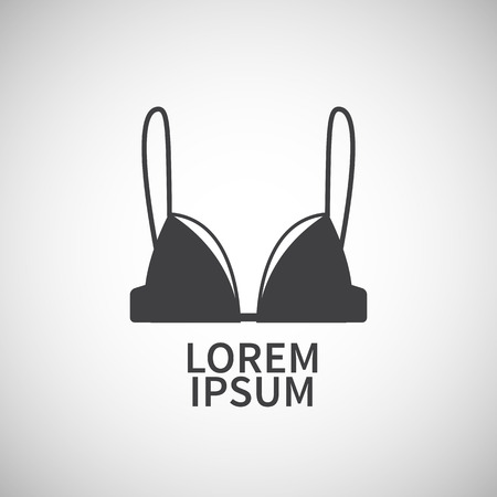 bra model: Nursing bra icon design element for your project Illustration
