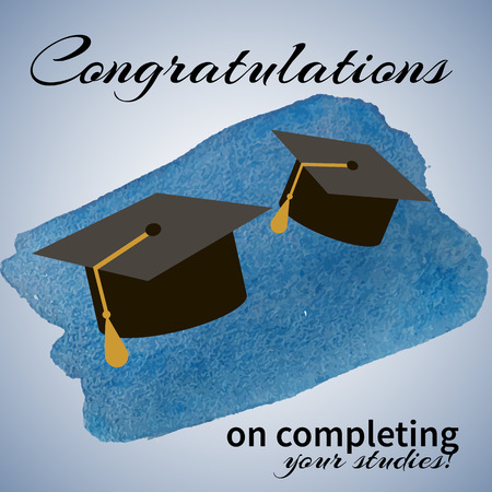 a graduate: rGreeting Card With Congratulations Graduate Completion of Studies