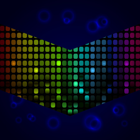 Vector illustratie van een muziek equalizer