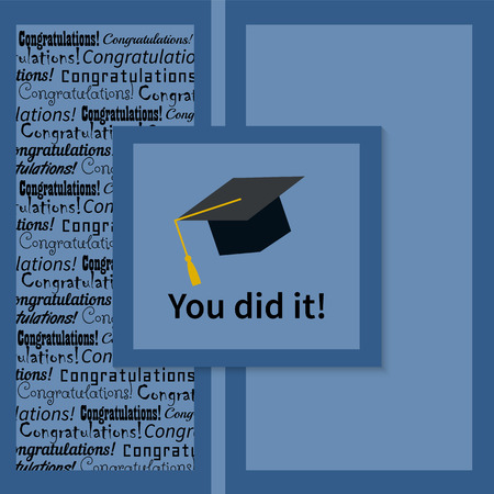 congratulations: Greeting Card With Congratulations Graduate Completion of Studies Illustration