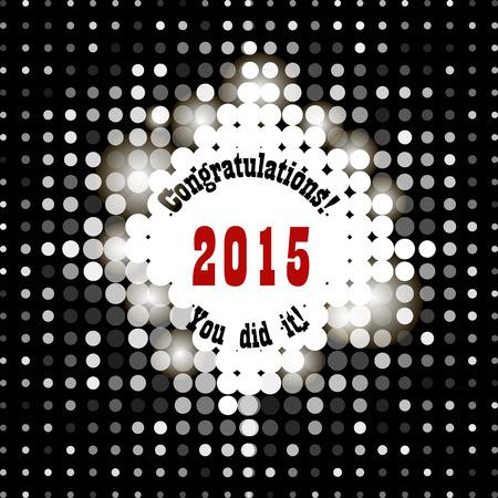 felicidades: Tarjeta de felicitación con enhorabuena gradúa Finalización de Estudios