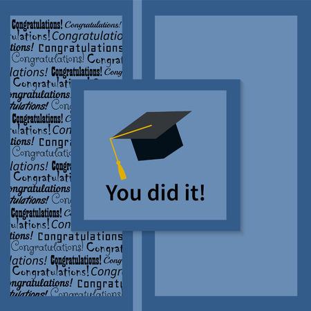 Gruß-Karte mit Glückwunsch-Absolvent Abschluss der Studien