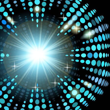 realization: Version disco background with light effects for the realization of your idea and business