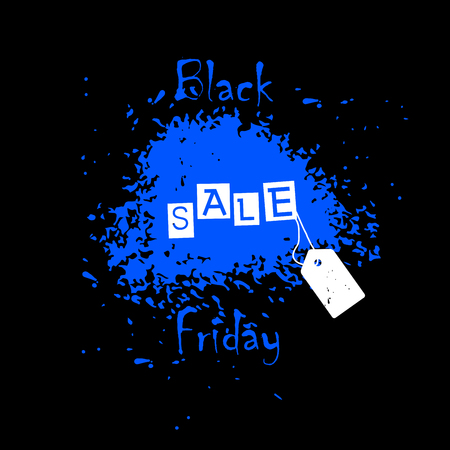 Postcard to Christmas sales with the words Black Friday for your design