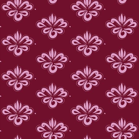 Curtain with floral ornament for your decor Illustration