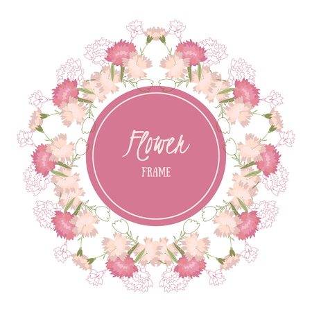 Vector background with flowers carnation
