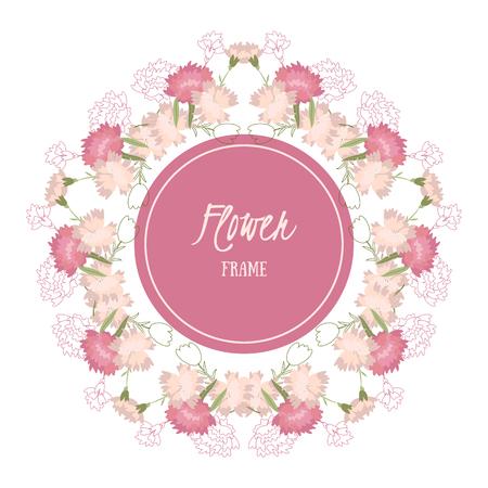 Vector Hintergrund mit Blumen Nelke Illustration