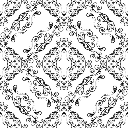 wedding backdrop: Hand drawing vector seamless background