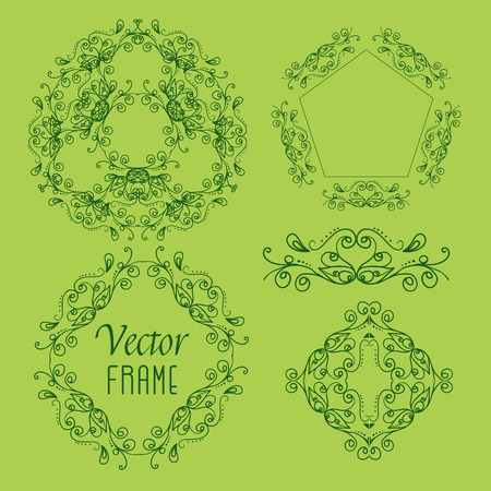 east indian: Collection Hand drawing vector frame for your project