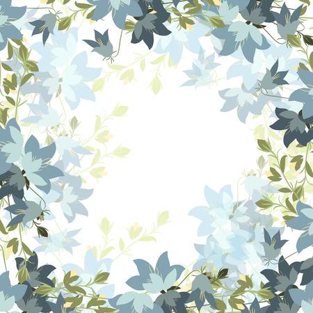 bellflower: Floral bellflower retro vintage background, vector illustration, mimos