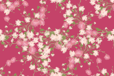 carnation: Floral carnation retro vintage background