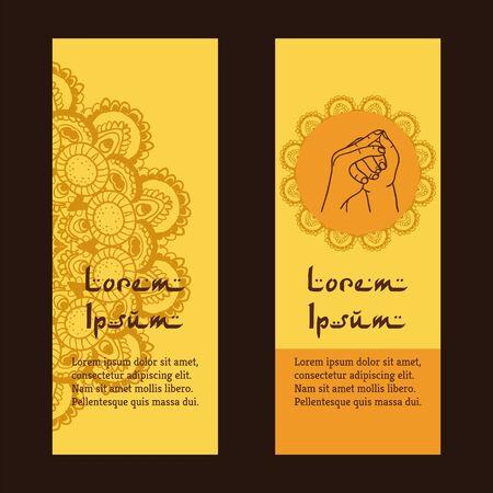 stairway to heaven: Element yoga Stairway Heaven mudra hands with mehendi patterns.