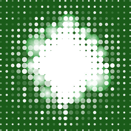 soundtrack: Halftone Pattern green for text. Halftone effect.
