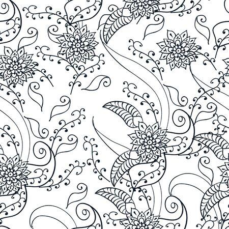 mehendi: Mehendi seamless flower pattern