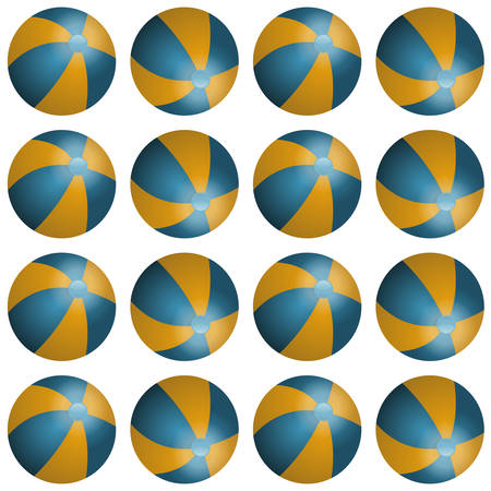 beachball: Vector summer background with beach balls for your project