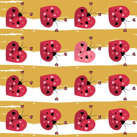 celebratory: Vector celebratory love pattern for your design Stock Photo