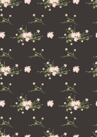 carnation: Floral carnation retro vintage background, vector illustration Stock Photo