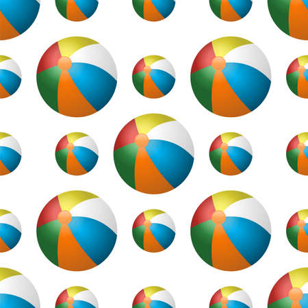 Vector summer background with beach balls for your project