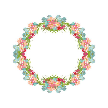 sprig: Floral  background vector illustration. Sprig background, floral greeting card Illustration
