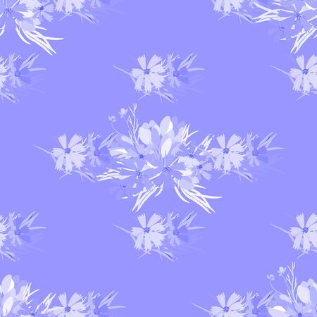 cosmos flower: Floral  flower cosmos crocus background vector illustration. Sprig background, floral greeting card