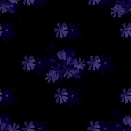 sprig: Floral  flower cosmos crocus background vector illustration. Sprig background, floral greeting card
