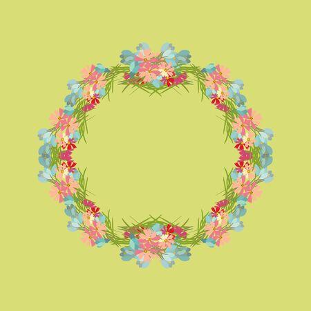 a sprig: Floral  background vector illustration. Sprig background, floral greeting card Illustration