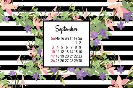 sprig: Floral lily arabis  background vector illustration. Sprig  background, floral greeting card Stock Photo