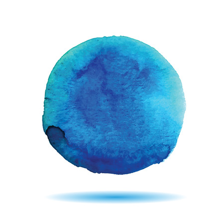 Abstract blue watercolor stain. Trace watercolors spot for your design