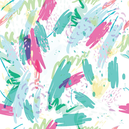 retro wallpaper: Abstract vector background with spots watercolor splashes in delicate pastel colors. Beautiful abstract texture fashion style 80 x memphis