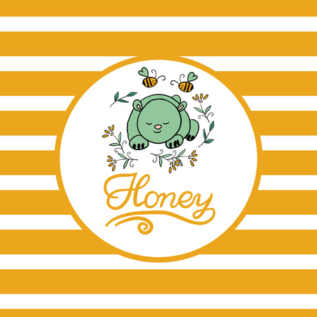 beeswax: Vector background with bees for your design. Suitable for design corporate identity, labels, packing.