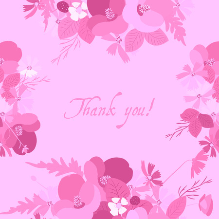 a sprig: Floral poppy and cosmos strawberries background vector illustration. Sprig of mimosa, flowers and leaves of sakura, cherry and magnolia, spring background, floral greeting card