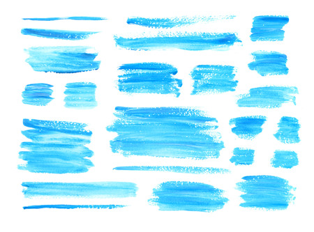 Gouache blue azureta textures splash,brushes. Hand painting texture stains,spot,design elements. Watercolor,acrylic art element. For Valentine day,wedding,holiday backdrop. Vector background.