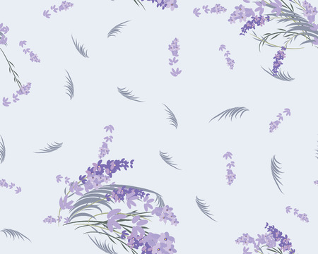 Floral lavender retro vintage background, vector illustration