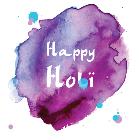 pichkari: Abstract holiday background Happy Holi colors India. Vector stained watercolor splashes in pastel colors. Beautiful abstract texture fashion style 80 x Memphis