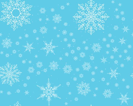 Winter card snowflake pattern. Winter frosty background. Christmas. Snowfall. Snowstorm. New Year. Weather. Vector paper illustration.