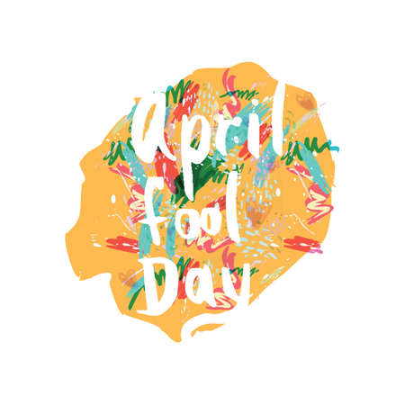 Greeting card of the April Fools Day. Vector abstract background Illustration
