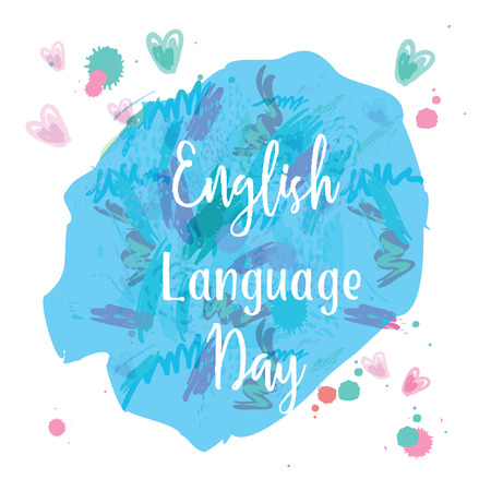 Greeting card of the english language day abstract background greeting card of the english language day abstract background stock vector 75834283 m4hsunfo
