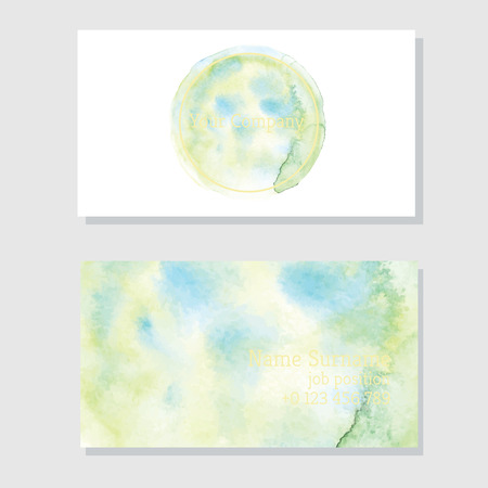 Art of watercolor stains of paint on watercolor paper. Grunge abstract vector background