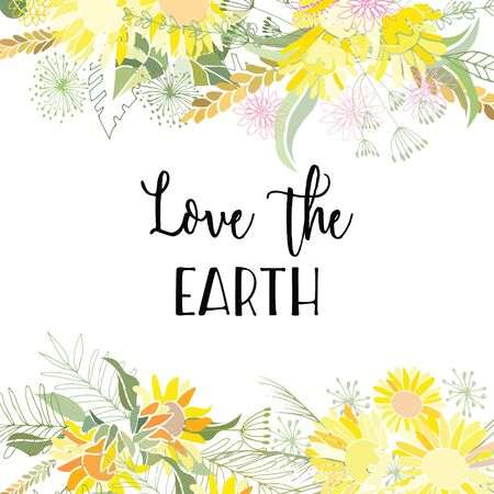 Greeting card of the Earth Day. Abstract background
