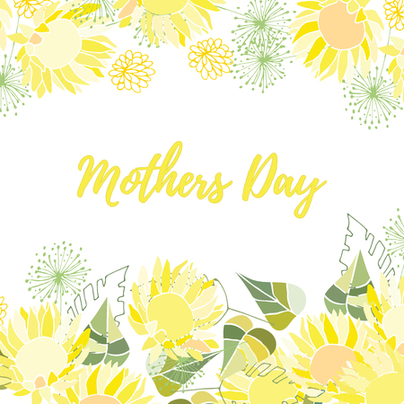 Greeting card of the Mothers Day. Abstract background