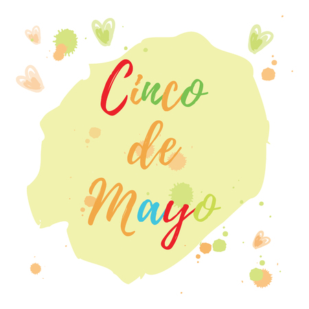 Greeting card of the Cinco de Mayo Day. Abstract background