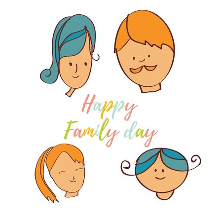 Greeting card of the Family day. Abstract background