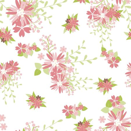Vintage romantic vector trendy seamless pattern