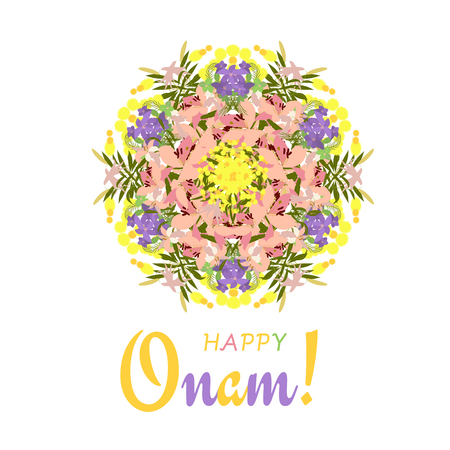 Holiday greetings illustration of Onam background Illustration