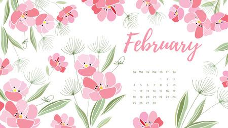 Vintage floral calendar 2018 Ilustrace