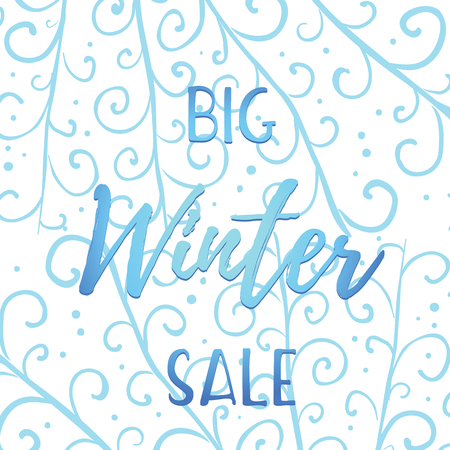 Winter mobile banner sale. Vector illustration of the website of online stores and mobile banner, posters, mailings, advertisements, coupons, banners in social networks.